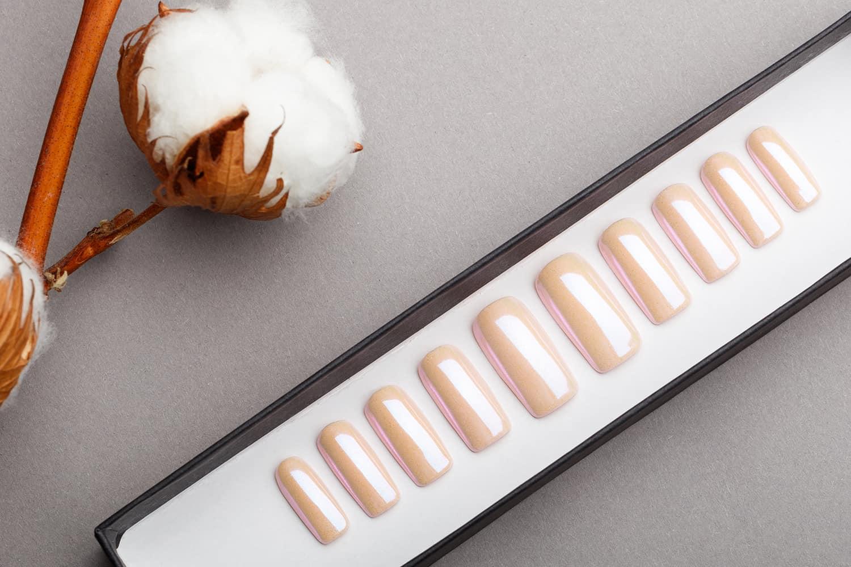 Pink Mirror Press on Nails | Nude Nails | Handpainted Nail Art | Fake Nails | False Nails | Unicorn Nails | Nude Nails
