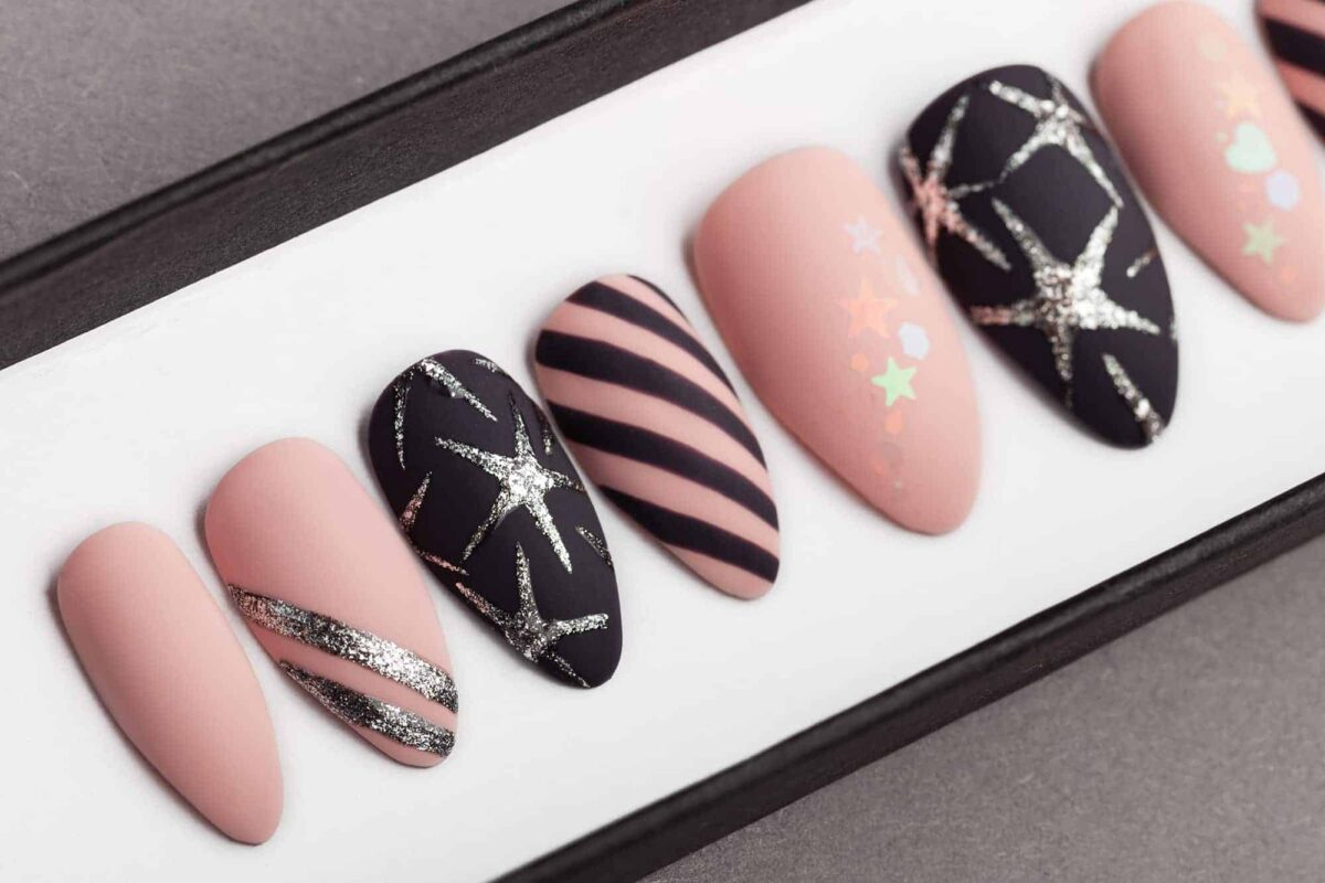 Stars & Stripes Press on Nails   Unicorn Nails   Hand painted Nail Art   Fake Nails   False Nails   Party Nails