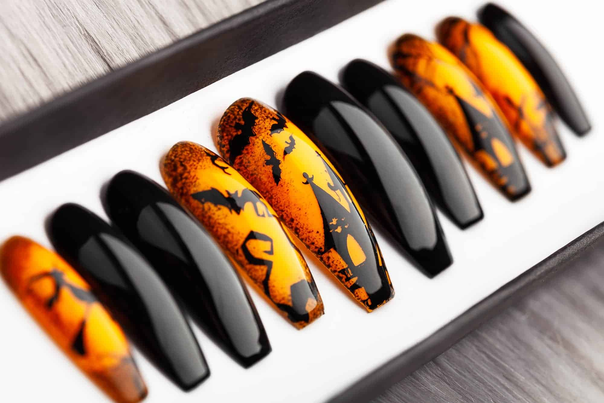Halloween Town Press on Nails