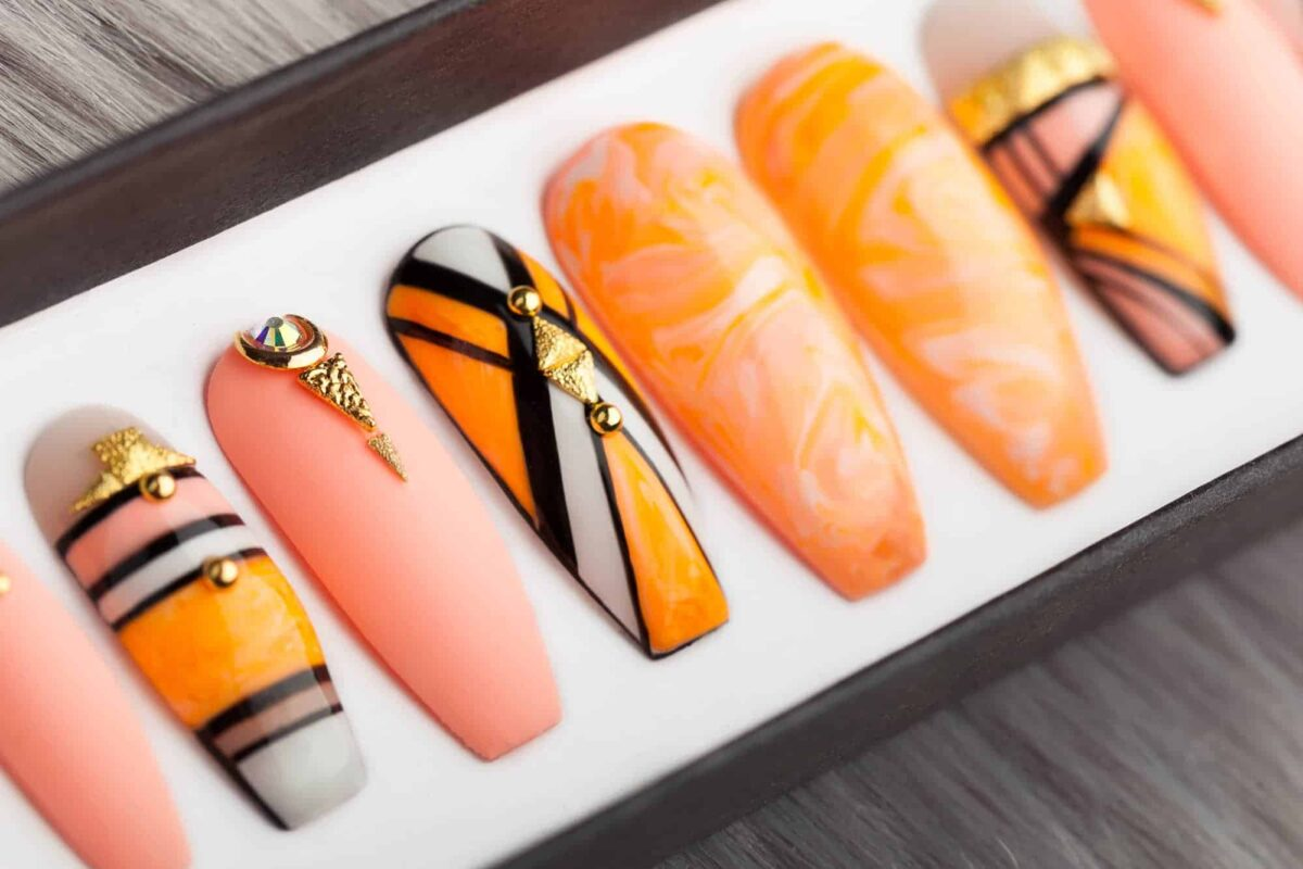 Summer Sunrise Press on Nails