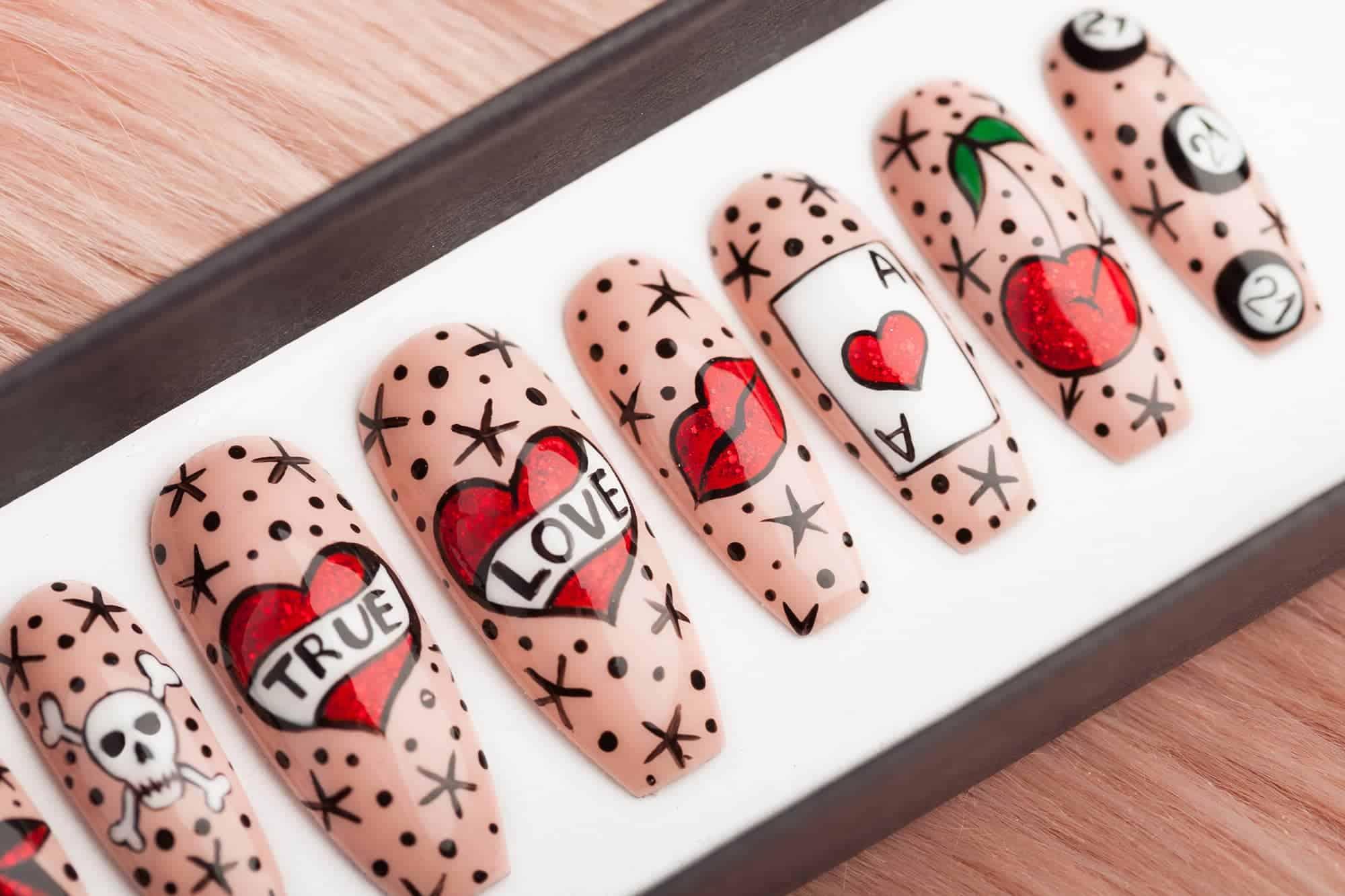 Las Vegas Baby tattoo Press on Nails