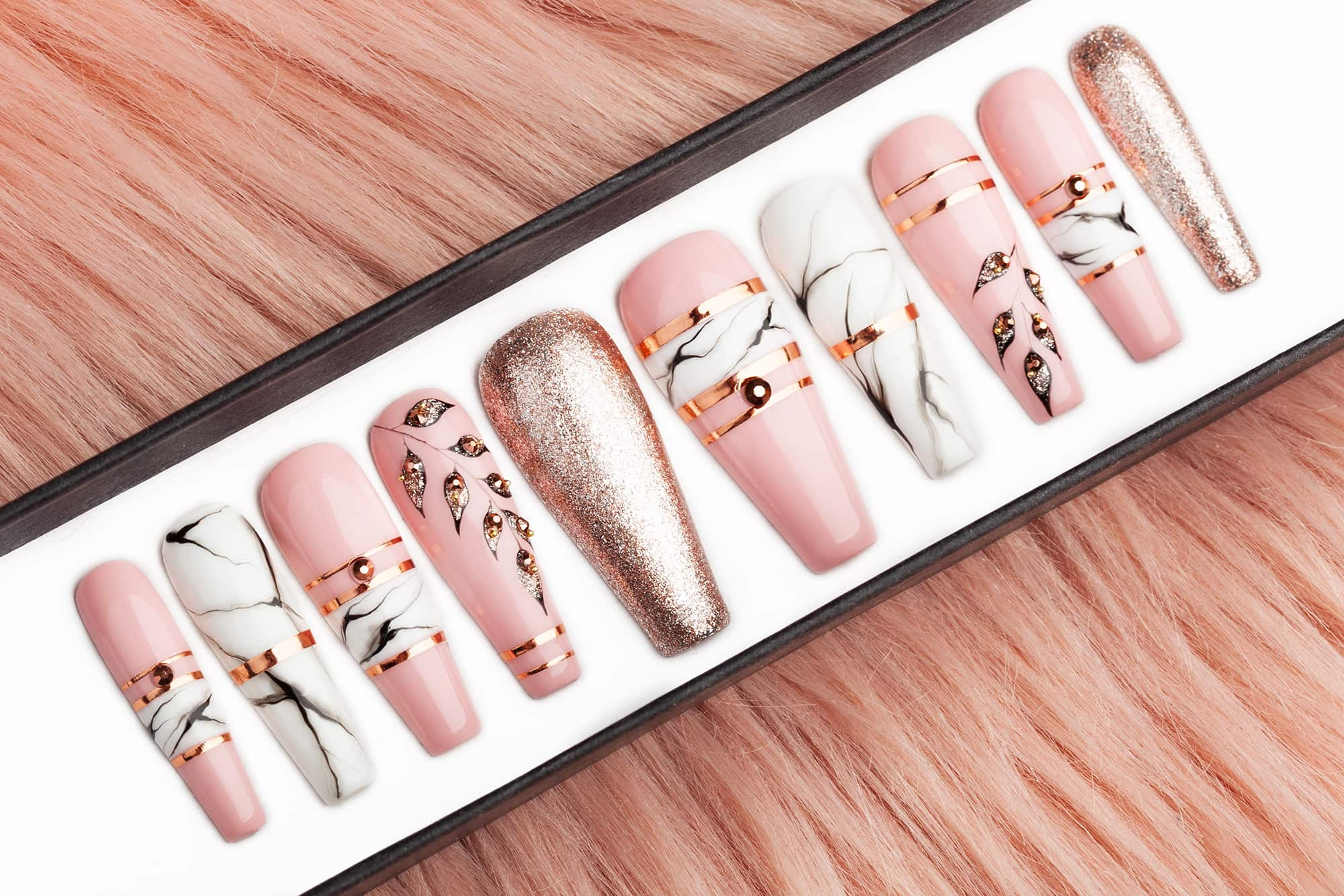 Luxury press on nails for wedding